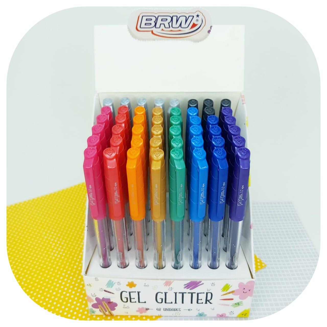 Caneta Esferográfica Gel Glitter - BRW