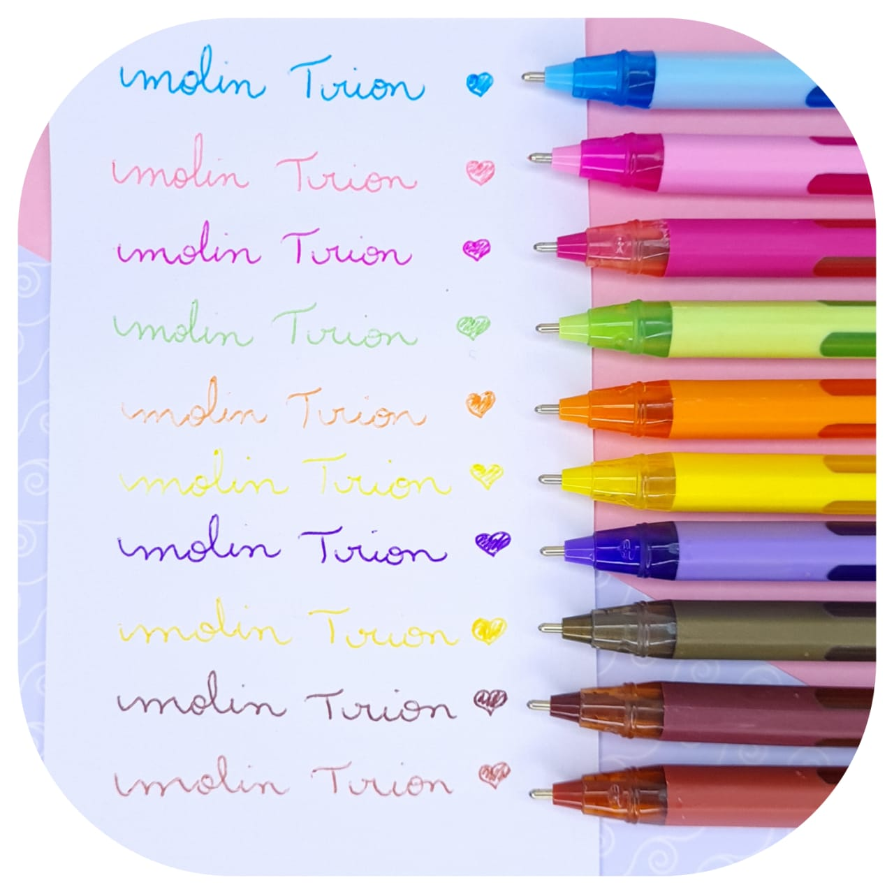 Caneta Esferografica Trion Color Plus Molin Kit c/  10