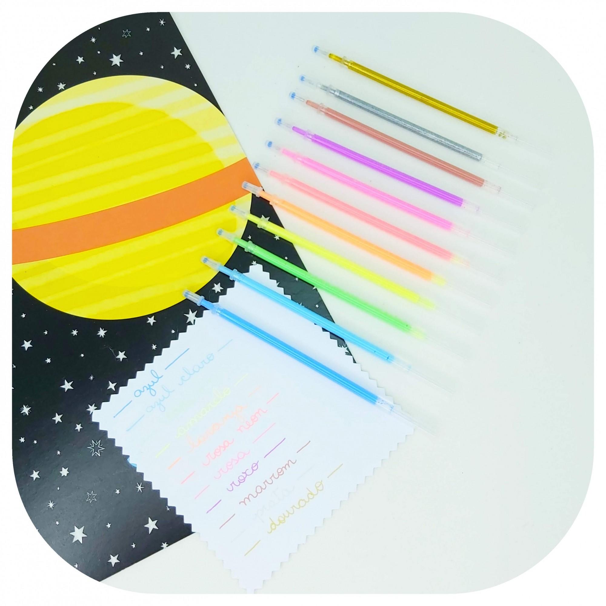 Carga/Refil - Tinta gel colorida - 0,50mm