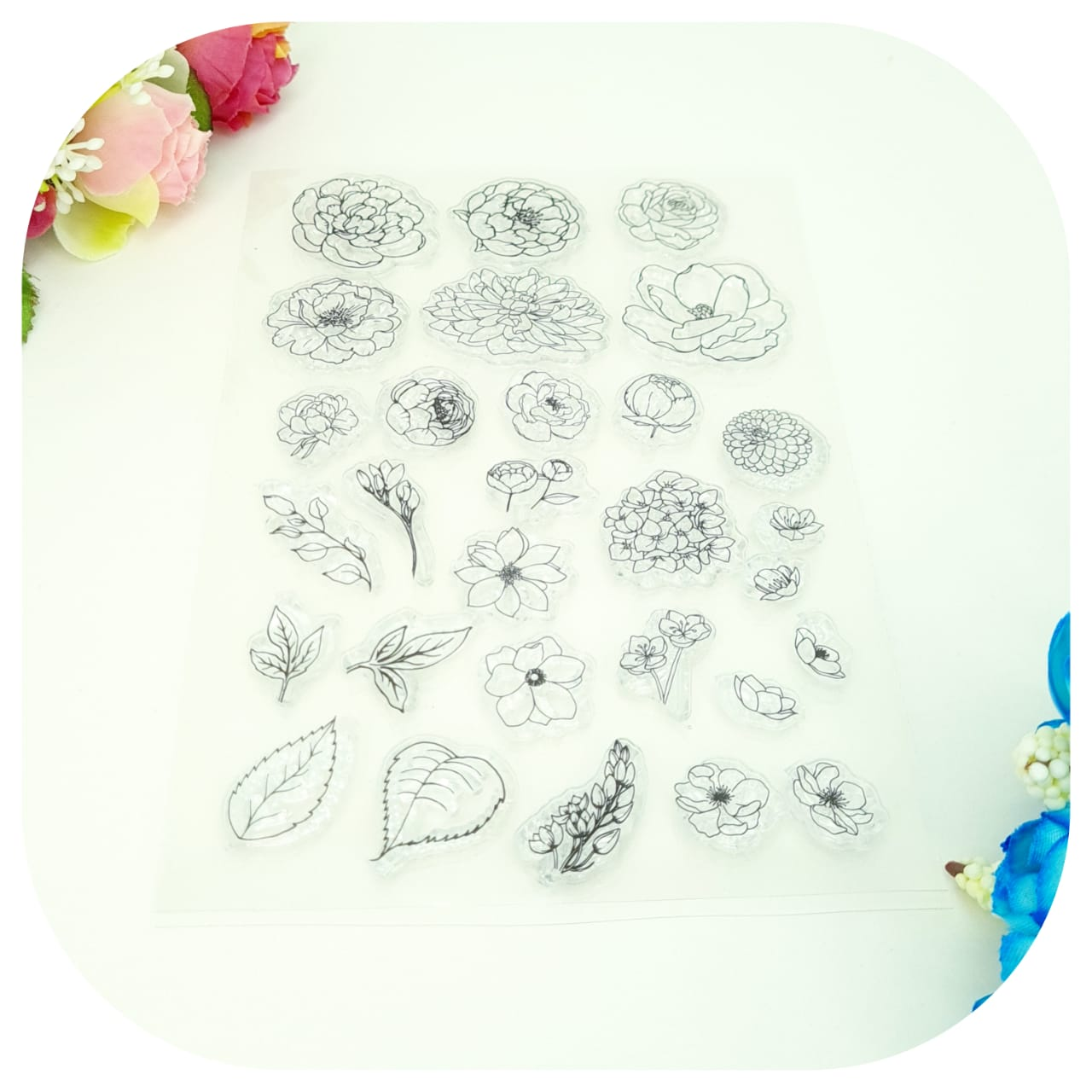 Carimbos de Silicone - Clear Stamp - Roses