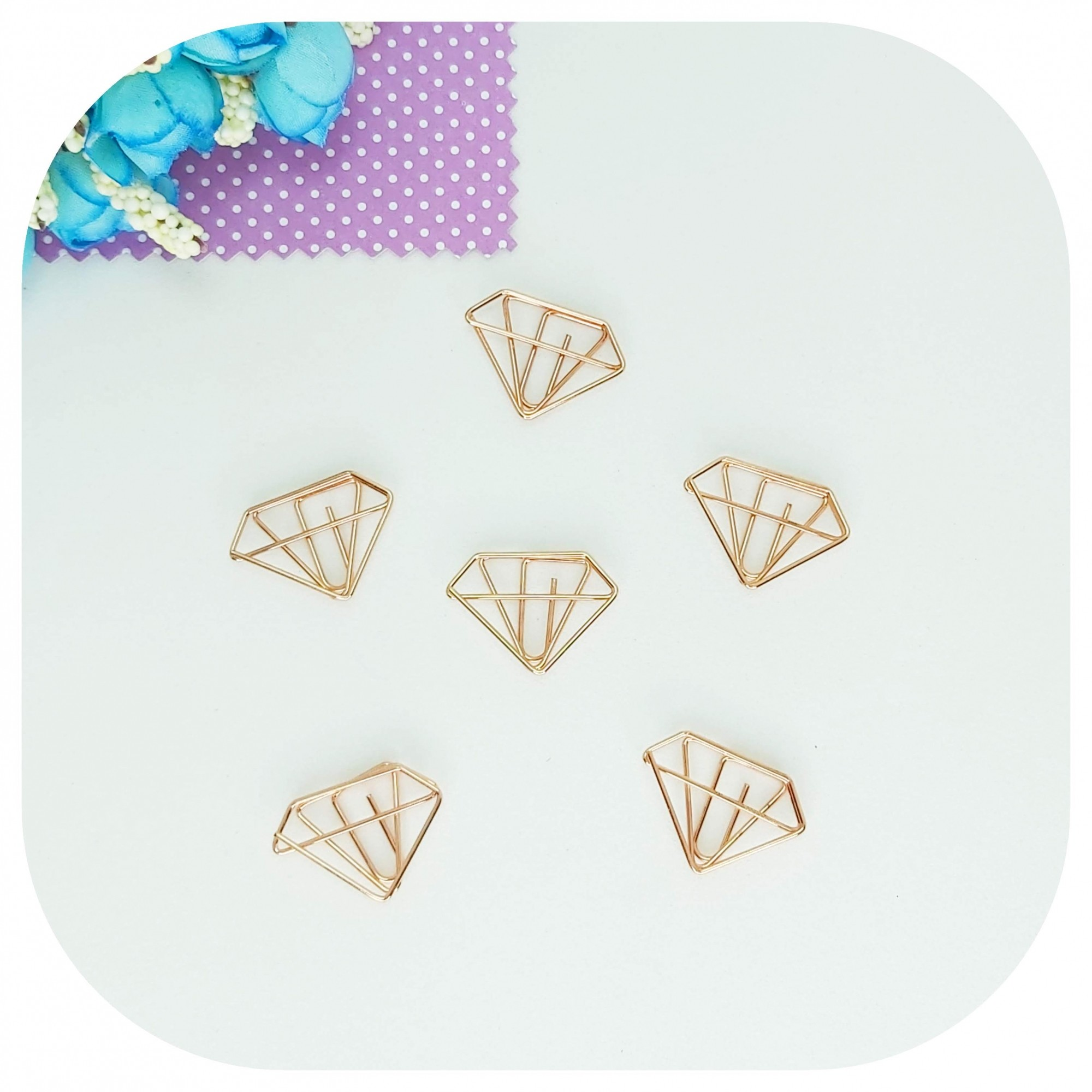 Cartela de Clips - Diamante