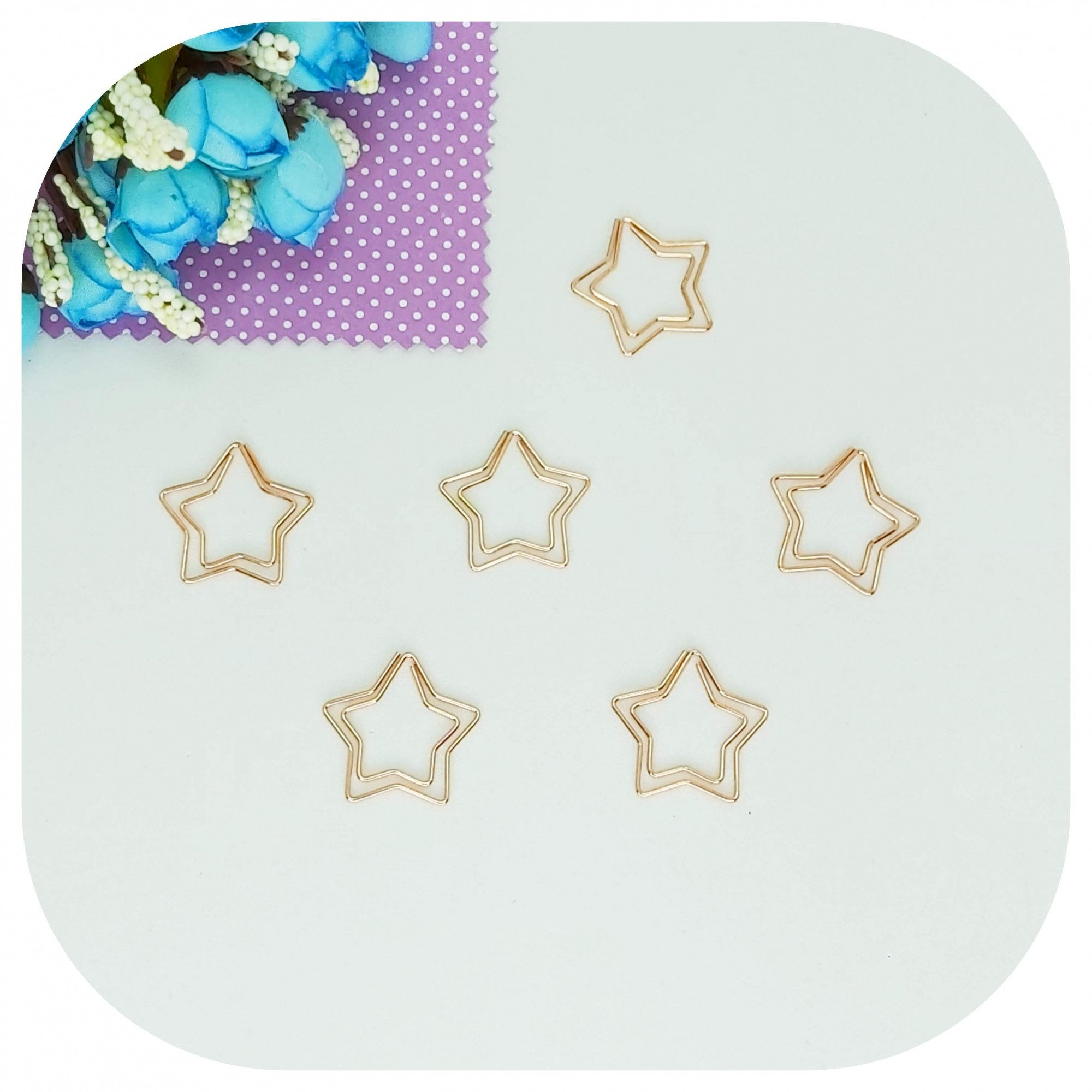 Cartela de Clips - Estrela