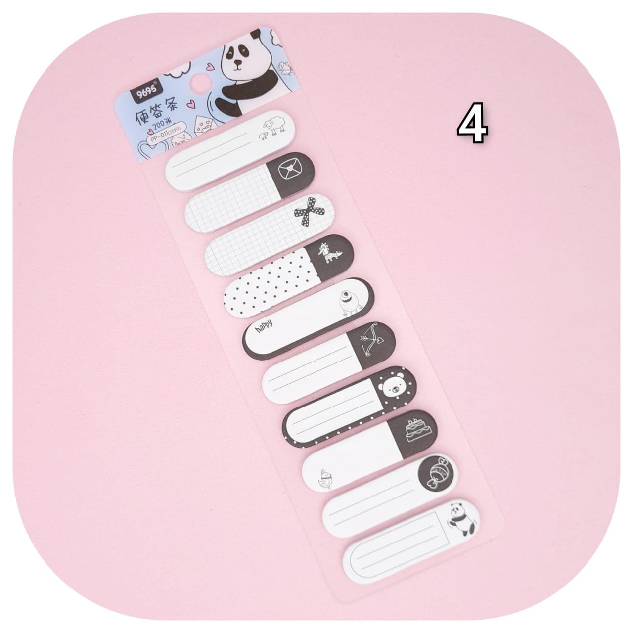 Cartela marcadores - Símbolos P&B