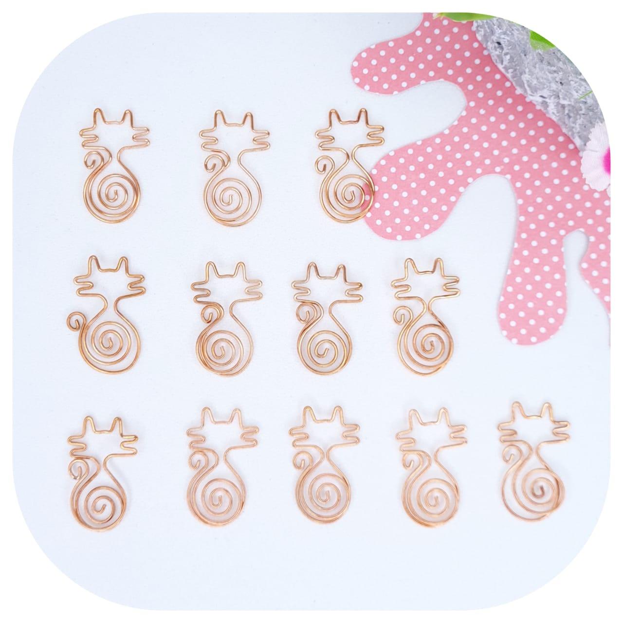 Clips Especial Love - Gato Caixa c/ 12 unidades