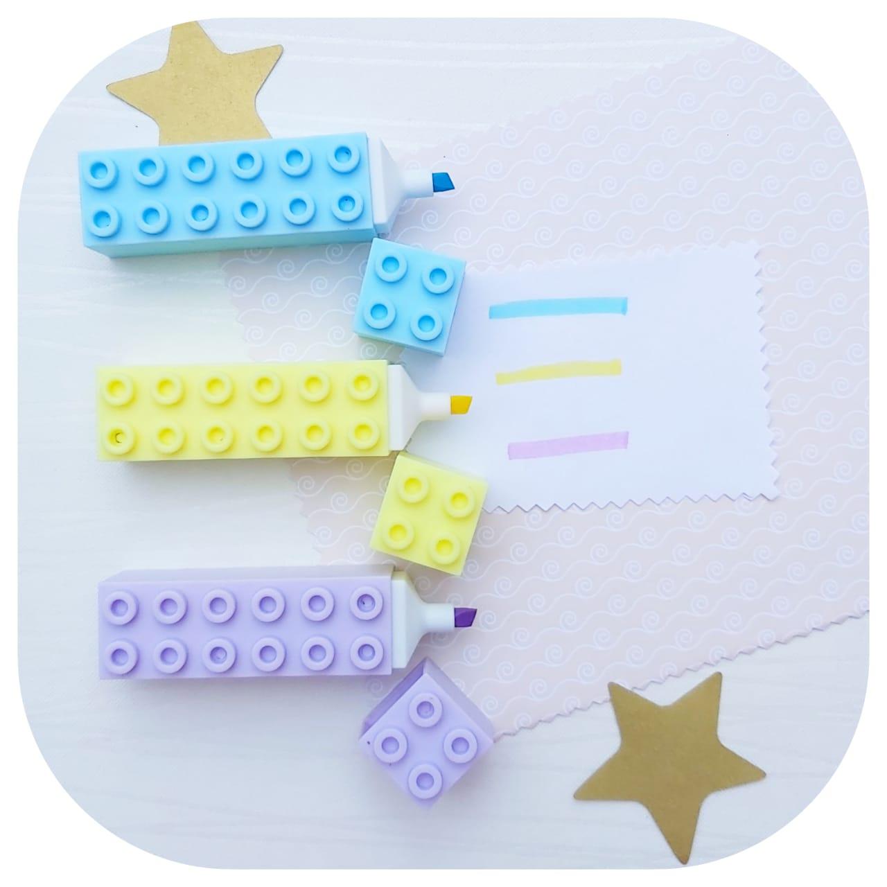 Kit 3 Big Marca Texto - Lego