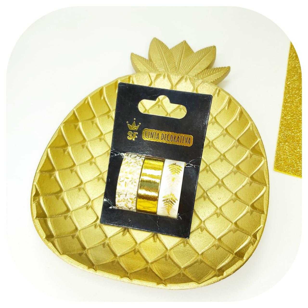 Kit 3 Washi Tapes - Gold