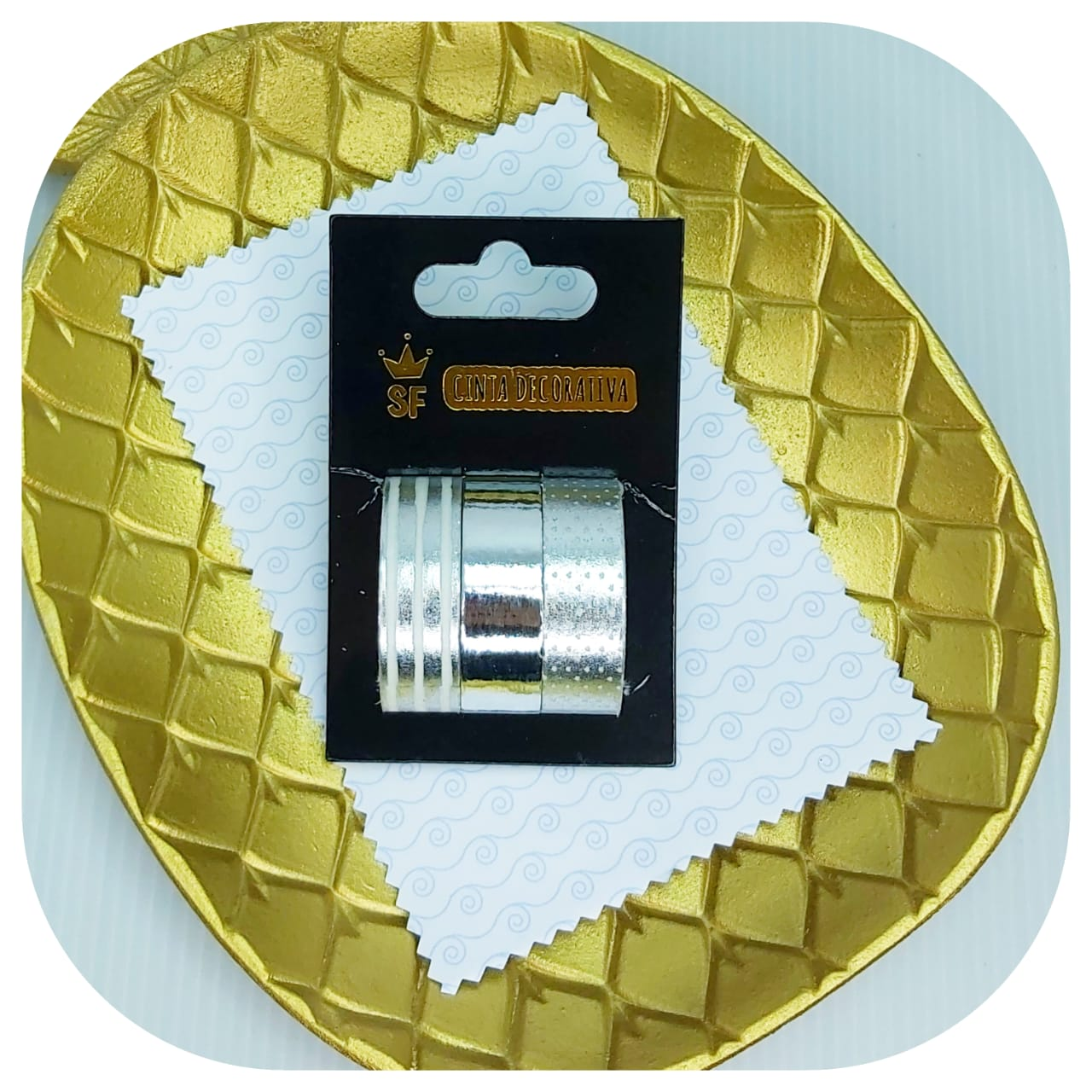 Kit 3 Washi Tapes - Silver