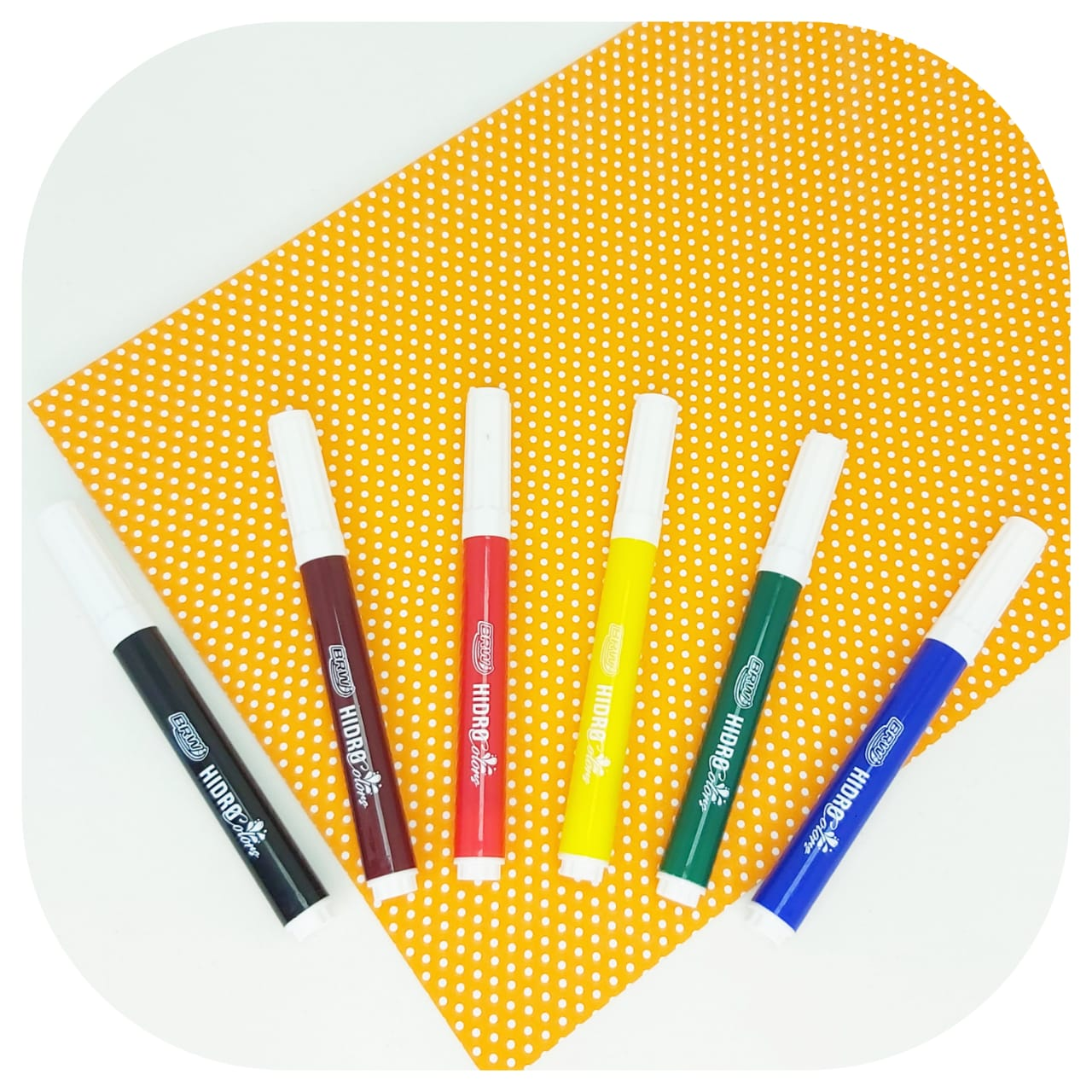 Kit 6 Canetinhas Hidro Color - BRW