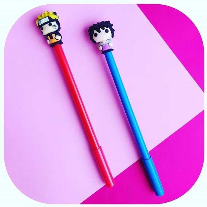 Kit Canetas Naruto e Sasuke