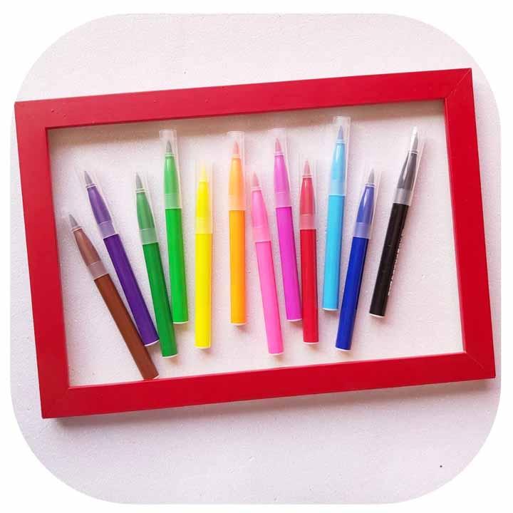 Kit Jumbo Brush Pen - 12 Cores