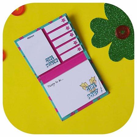 Kit Post-it + Bloco de Notas - Girl Power