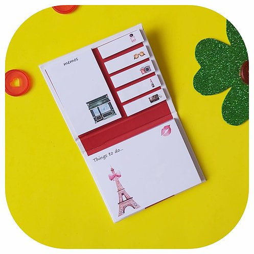 Kit Post-it + Bloco de Notas - Paris
