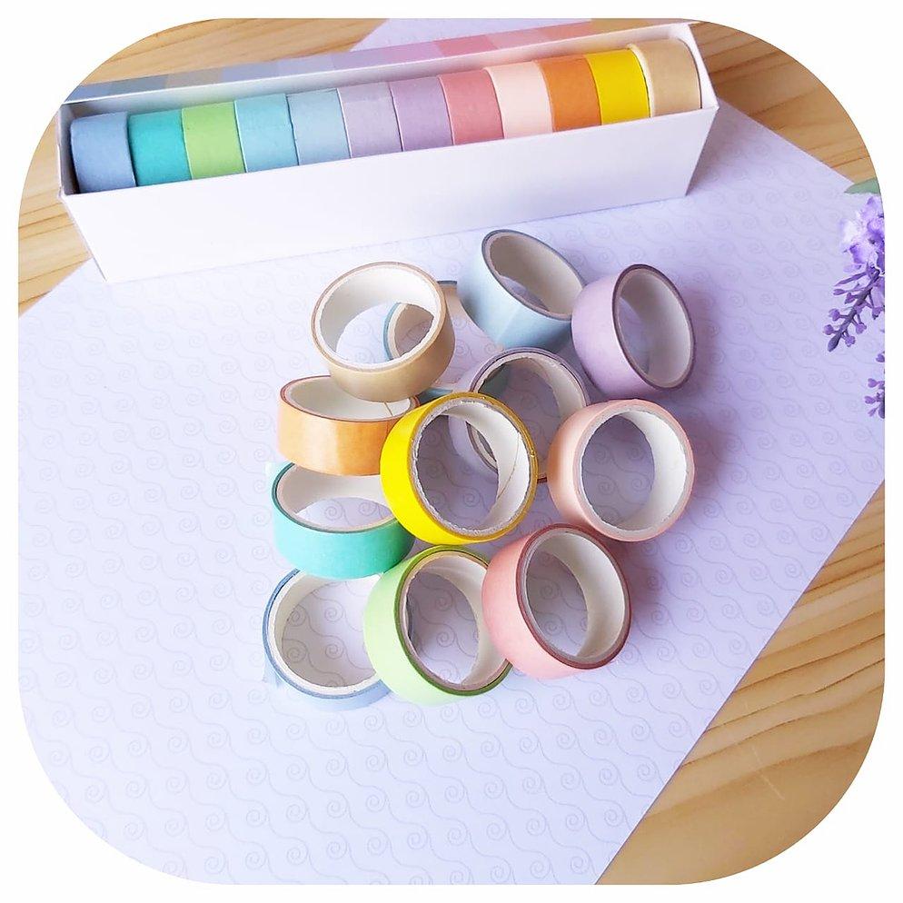 Kit Washi Tape - Tons Pasteis