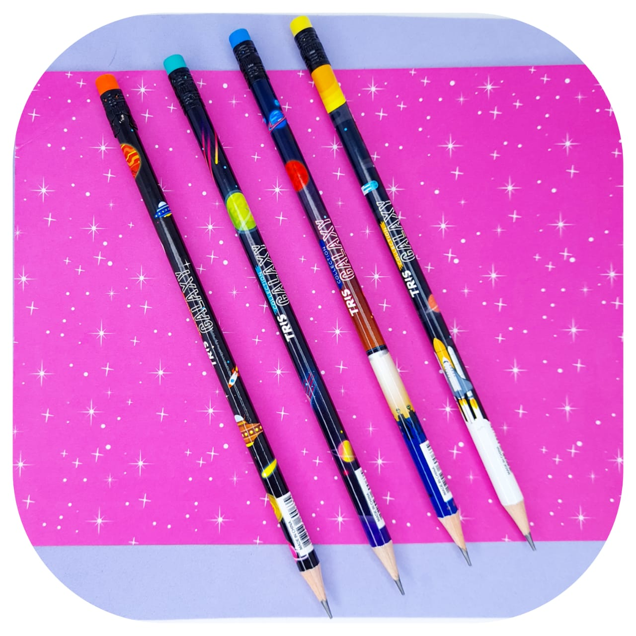Lápis com Borracha Galaxy - Tris