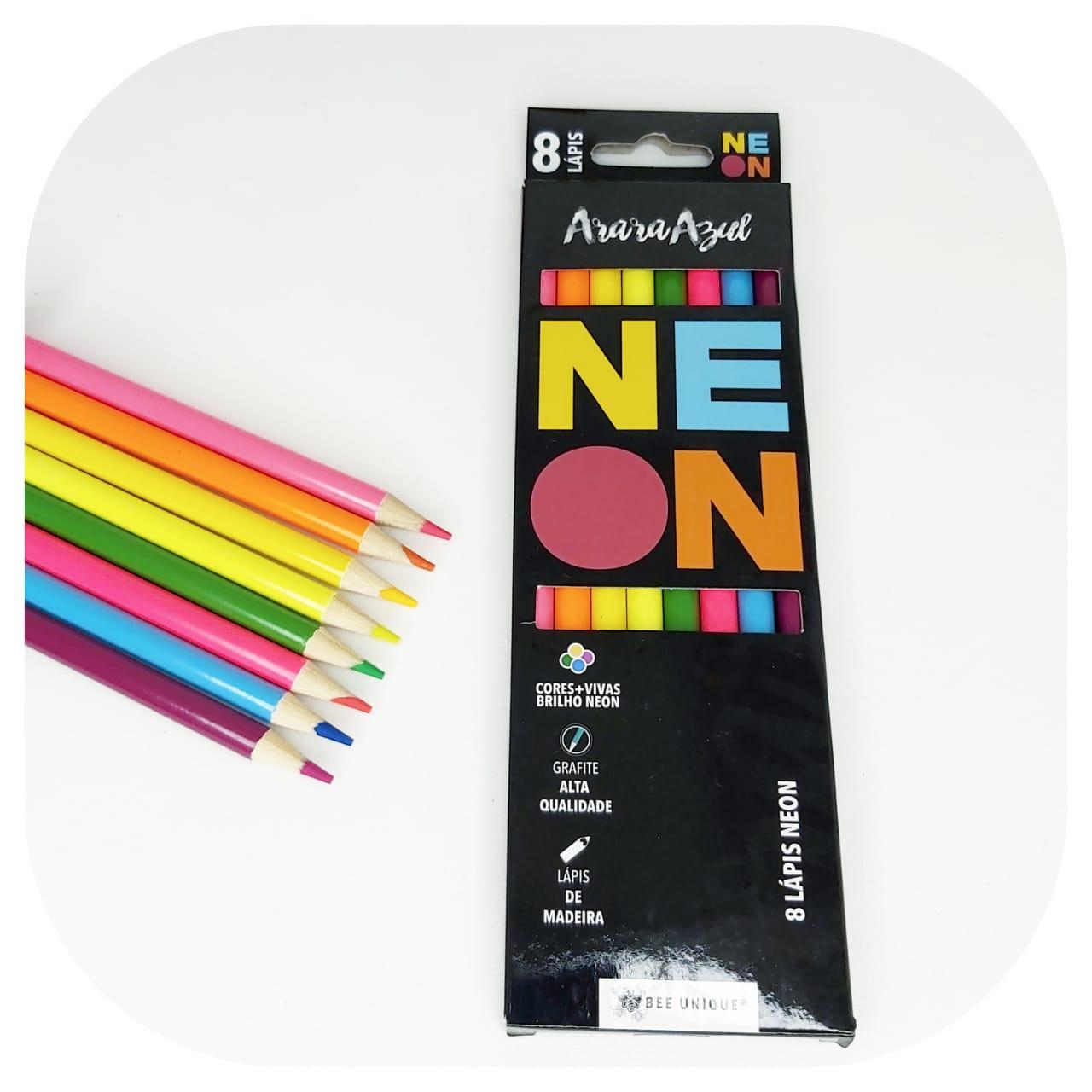 Lápis de Cor - neon - BeeUnique - Linha Arara Azul