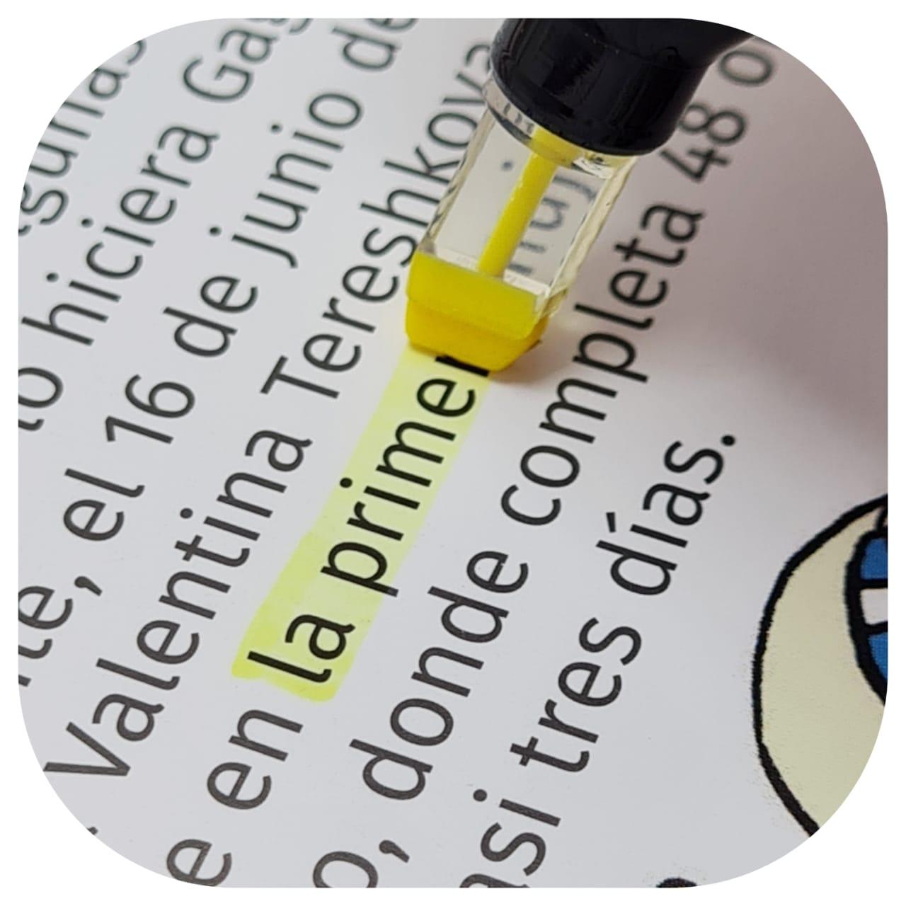 Mini Marca Texto - Tons pasteis - ponta Transparante