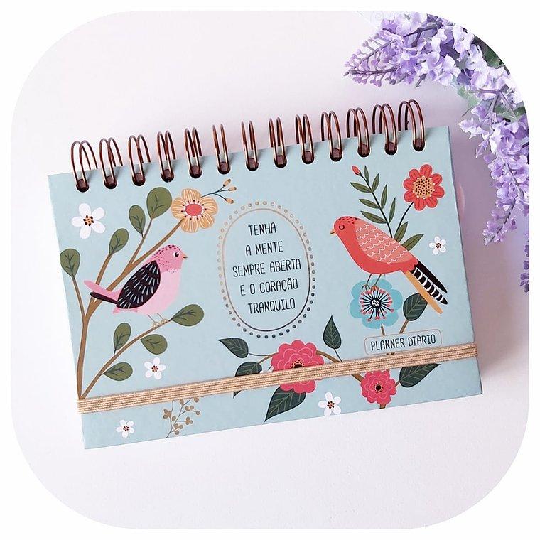Planner Diário - Capa Dura - Pássaros