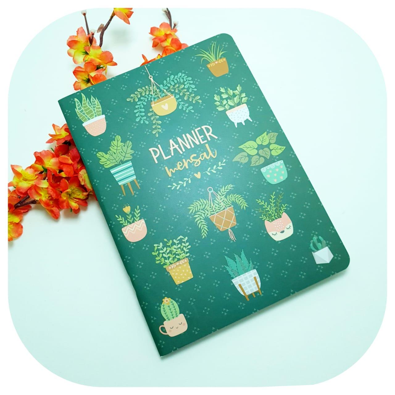Planner Mensal - Cartões Gigantes - Jardim