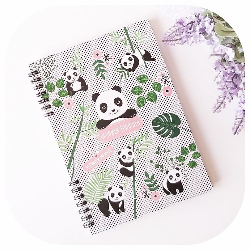 Planner Mensal - Compacto - Panda