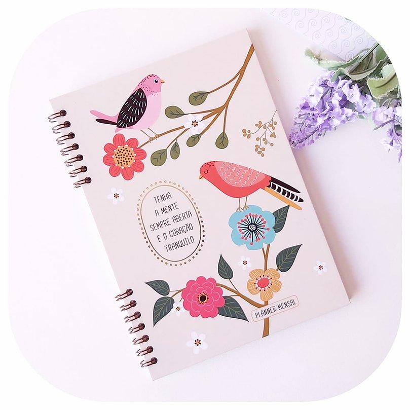 Planner Mensal - Compacto - Pássaros