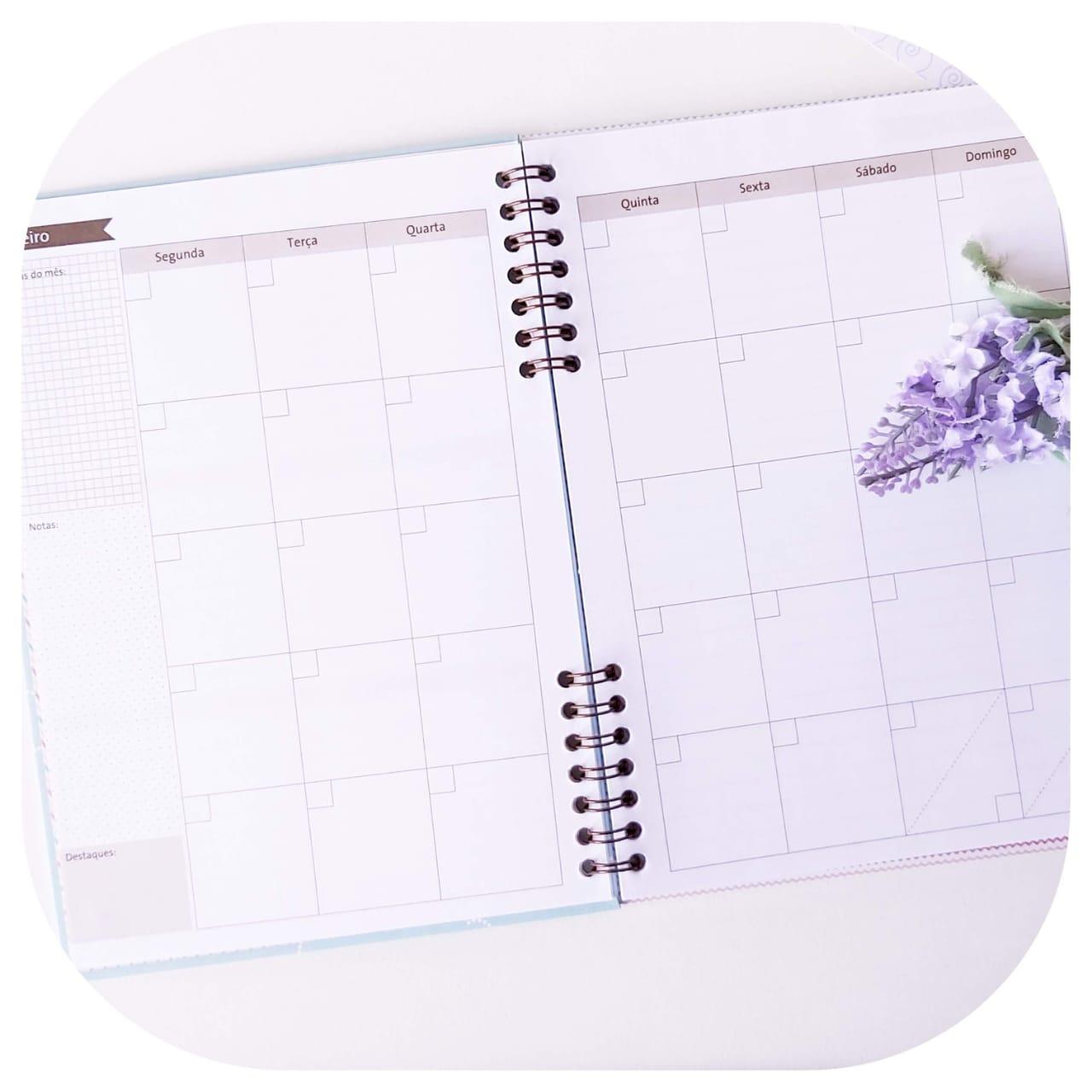 Planner Mensal - Compacto - Preguiça