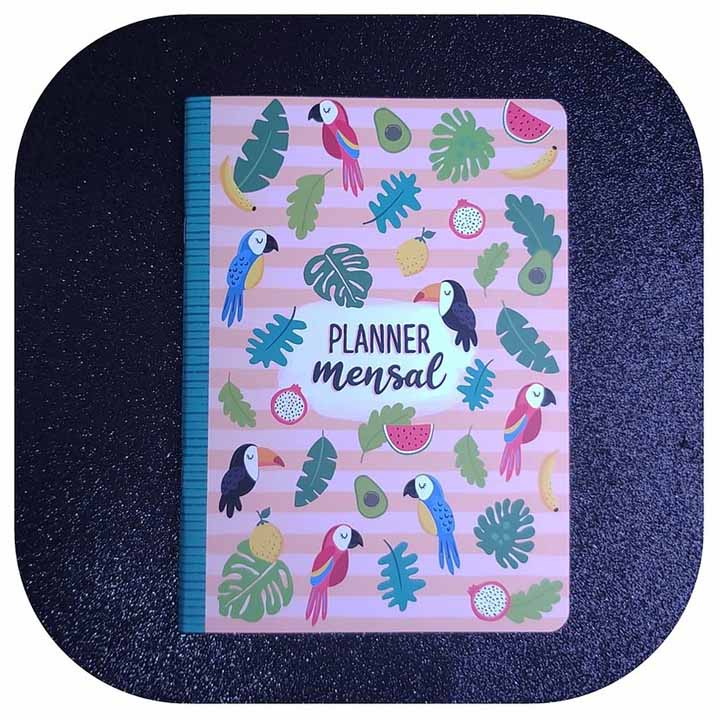 Planner Mensal - Pássaros