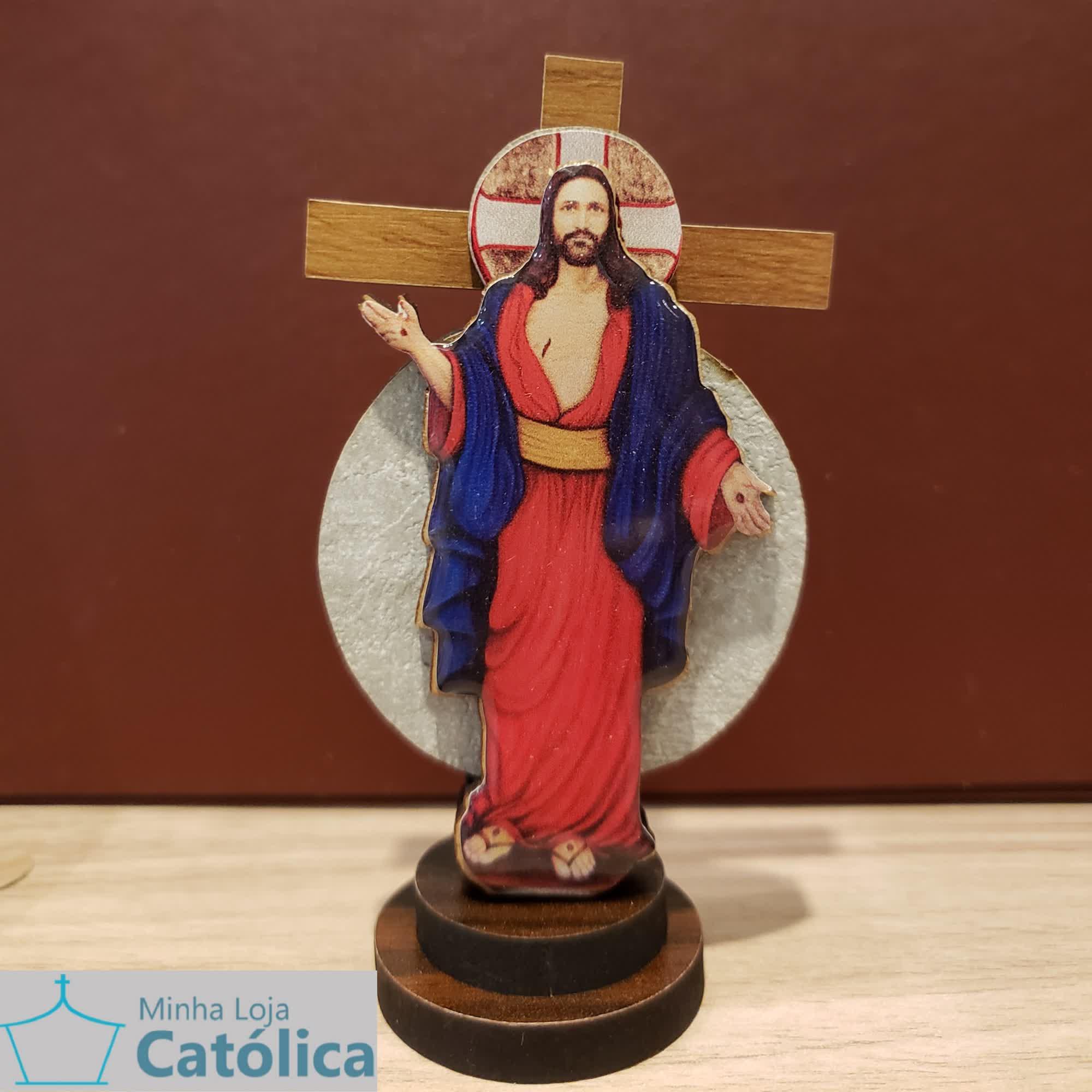 Cruz 3D Ícone Santas Chagas 9cm - 105060