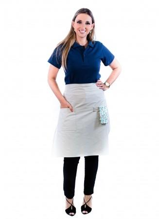 Avental de Cintura Feminino Sumaia Camille Para Profissionais da Cozinha - Areia