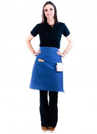 Avental de Cintura Feminino Sumaia Camille Para Profissionais da Cozinha - Azul Índigo