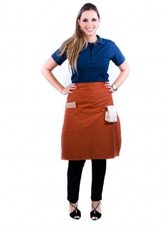 Avental de Cintura Feminino Sumaia Camille Para Profissionais da Cozinha - Ferrugem
