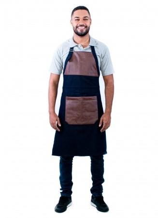 Avental Churrasqueiro Masculino Sumaia Parrilla Para Profissionais da Cozinha - Jeans
