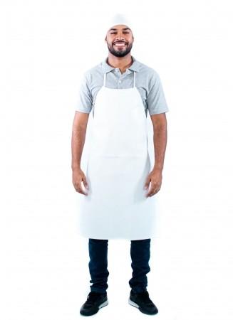Avental de Napa Unissex Sumaia White Clean Para Profissionais da Cozinha