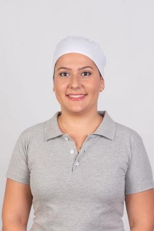 Bandana Feminina Sumaia Nicolle Para Profissionais Da Cozinha - Branca