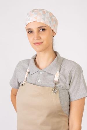 Bandana Feminina Sumaia Nicolle Para Profissionais Da Cozinha - Zigue Zague Grande