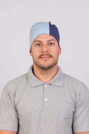 Bandana Masculina Sumaia Thalles Para Profissionais Da Cozinha - Listra Azul