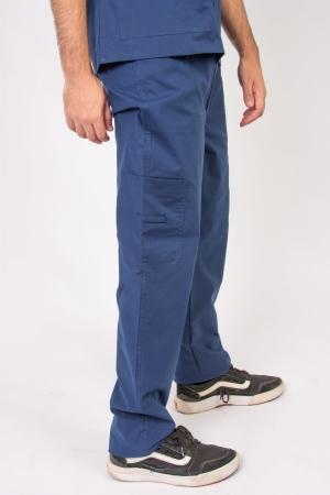 Calça Scrub Masculina Sumaia Max Para Profissionais Da Saúde - Azul Marinho