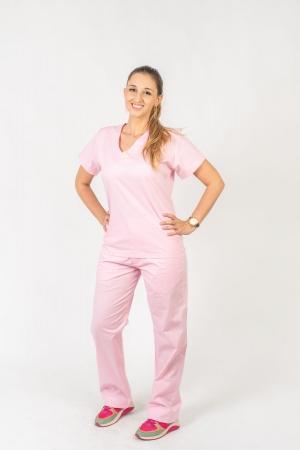Calça Scrub Feminina Sumaia Para Profissionais Da Saúde - Rosa