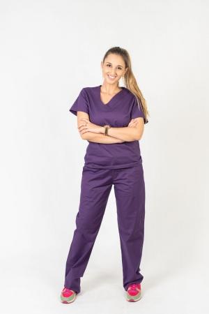 Calça Scrub Feminina Sumaia Para Profissionais Da Saúde - Roxo