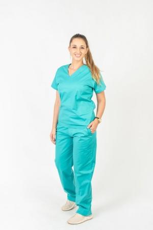 Calça Scrub Feminina Sumaia Para Profissionais Da Saúde - Turquesa