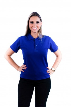 Camisa Polo Feminina Sumaia Antonella - Azul Royal