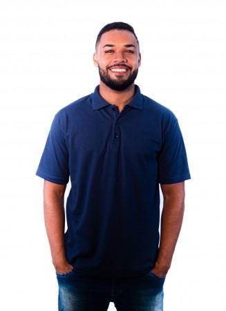 Camisa Polo Masculina Sumaia  Iago - Azul Marinho