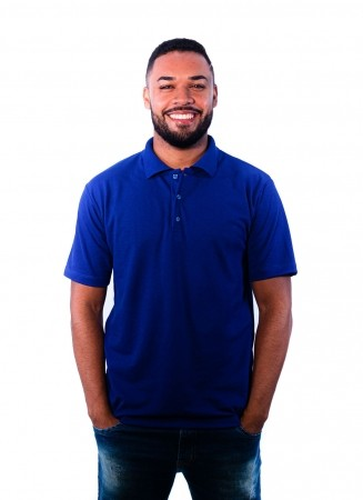 Camisa Polo Masculina Sumaia  Iago - Azul Royal