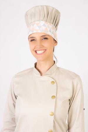 Mestre Cuca Feminino Sumaia Yasmin, Para Profissionais da Cozinha -  Bege + Zigue-Zague Grande