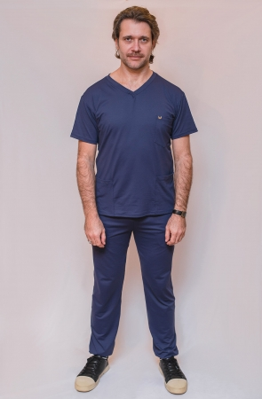 Scrub Sorriso do Bem Masculino - Azul Marinho