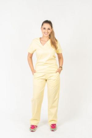 Scrub Feminino Sumaia Victória Para Profissionais Da Saúde - Amarelo