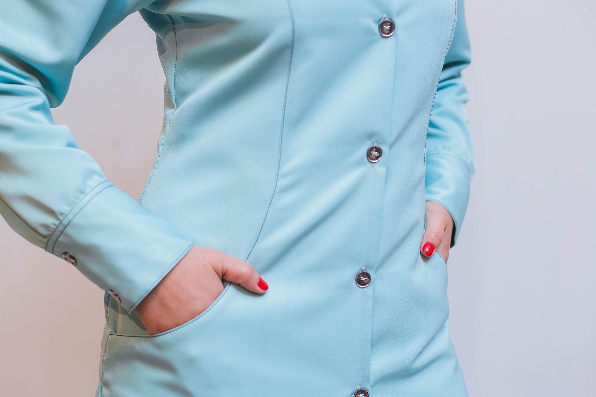 Jaleco Apolônias do Bem Feminino - Azul Frozen