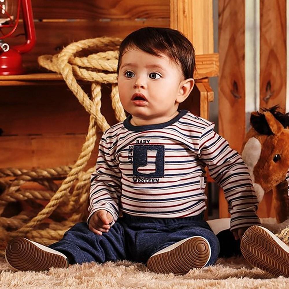 Conjunto Body e Calça para Bebês Botinha