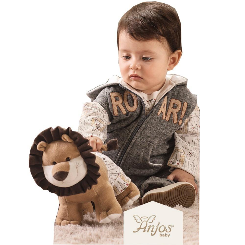 Conjunto de Frio para Bebês Leãozinho 3 peças