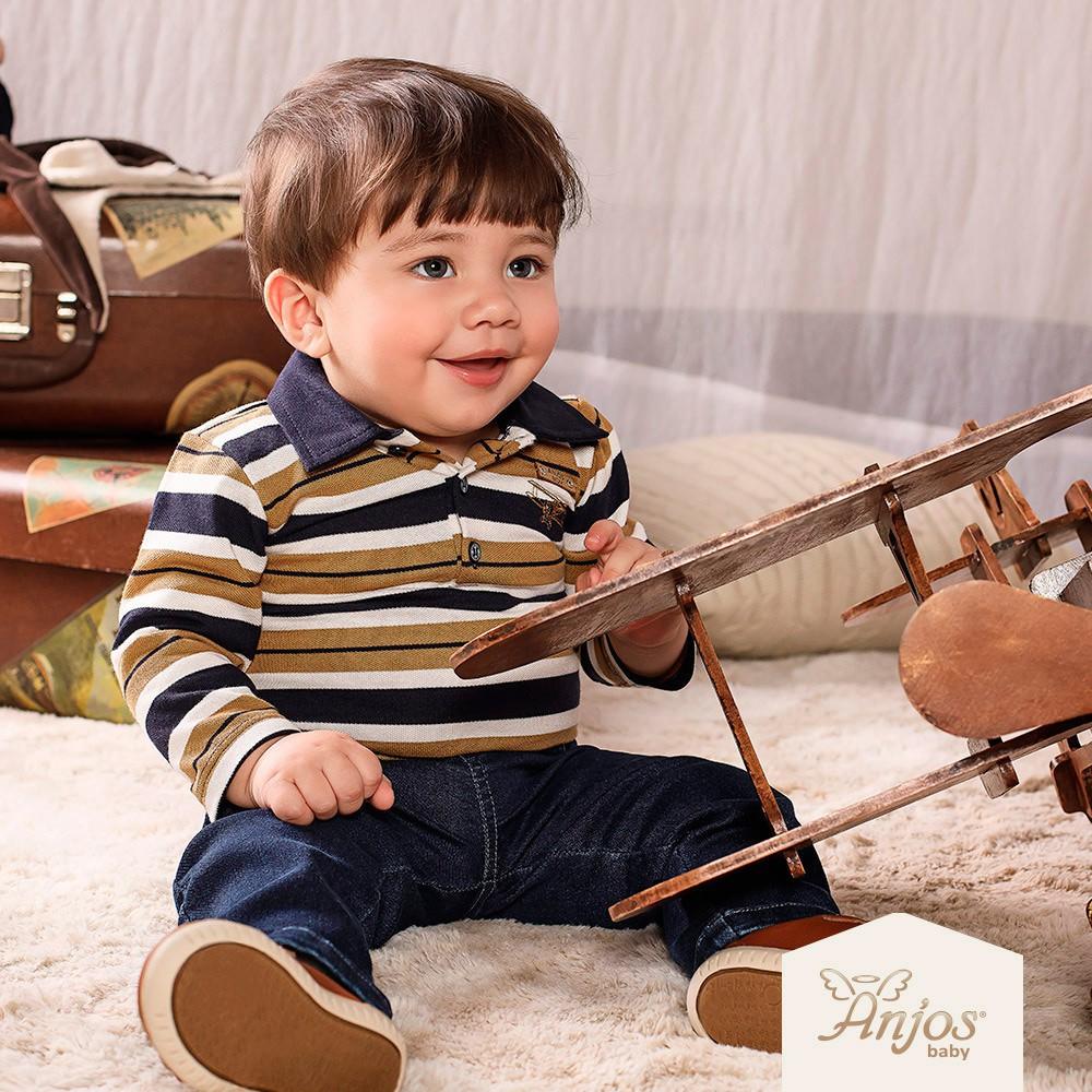 Conjunto Longo para Bebês Aviãozinho 2 peças