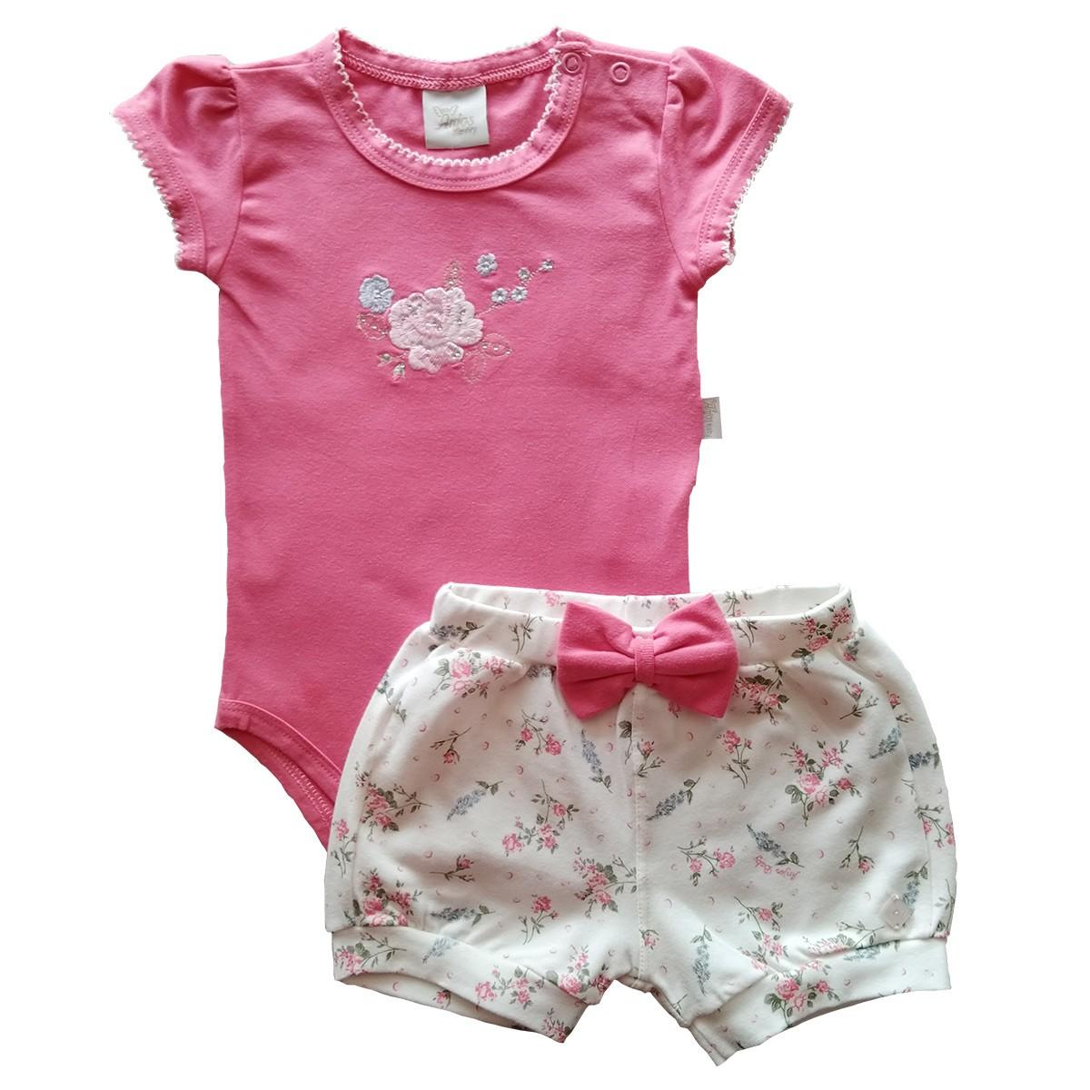 Conjunto Verão para Bebês 2 peças – Pink